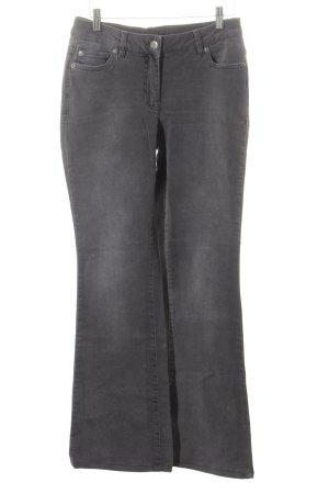 Madeleine Jeansschlaghose grau Jeans-Optik