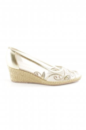 Madeleine Wedge Pumps gold-colored casual look