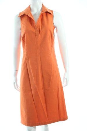 Madeleine Kleid orange-weiß sportlicher Stil