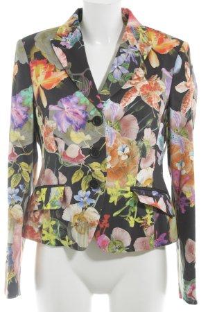 Madeleine Kurz-Blazer Blumenmuster Textil-Applikation