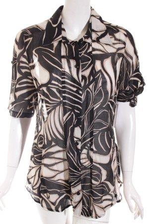 Madeleine Kurzarm-Bluse abstraktes Muster Business-Look
