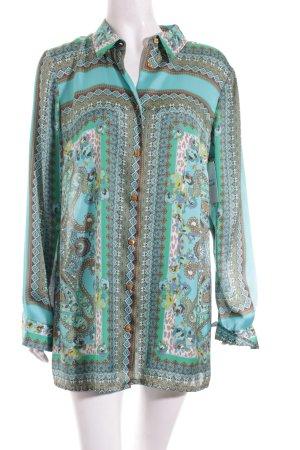 Madeleine Langarm-Bluse abstraktes Muster extravaganter Stil