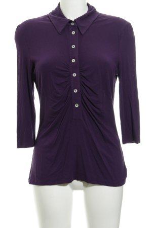 Madeleine Langarm-Bluse lila schlichter Stil