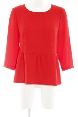 Madeleine Langarm-Bluse rot extravaganter Stil