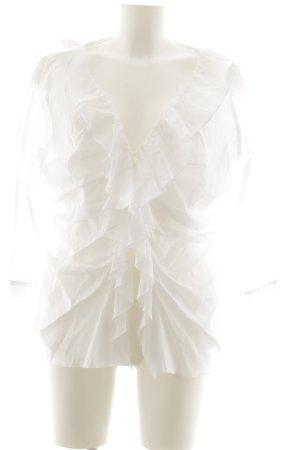 Madeleine Langarm-Bluse weiß Elegant