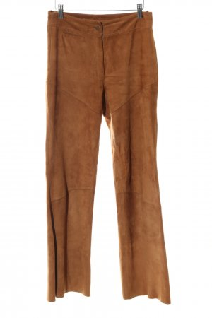 Madeleine Leather Trousers light orange casual look