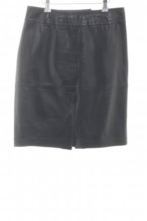 Madeleine Leather Skirt black casual look