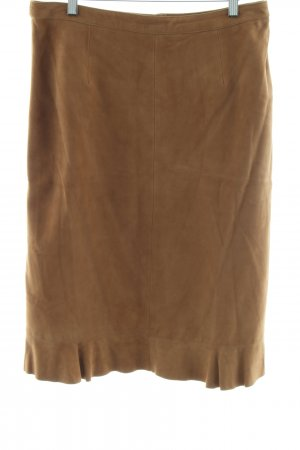 Madeleine Leather Skirt brown business style