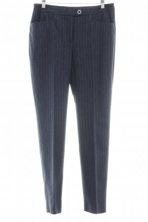 Madeleine Marlene Trousers dark blue-light grey pinstripe business style