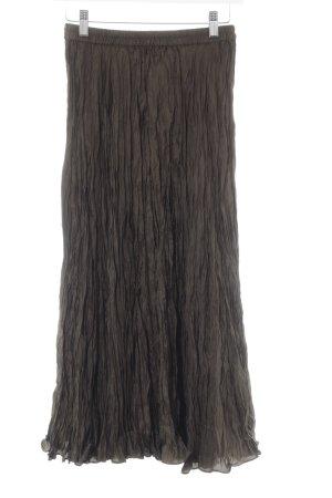 Madeleine Midirock khaki-graugrün schlichter Stil