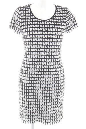 Madeleine Minikleid weiß-schwarz Allover-Druck Elegant