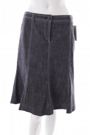 Madeleine Minirock dunkelgrau-weiß Jeans-Optik