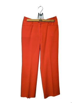 Madeleine, Orange Bundfaltenhose elegant