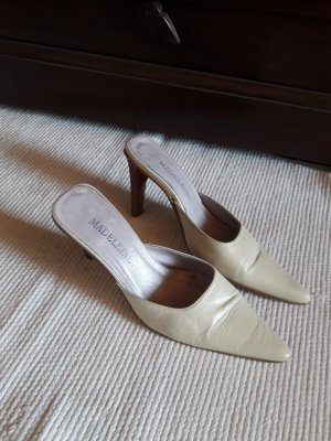 Madeleine Mules natural white