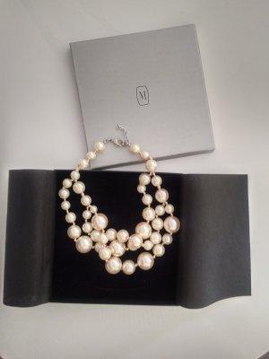 Madeleine Collier de perles blanc cassé