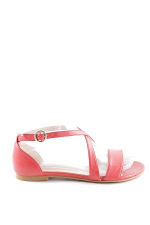 Madeleine Riemchen-Sandalen pink-silberfarben Romantik-Look