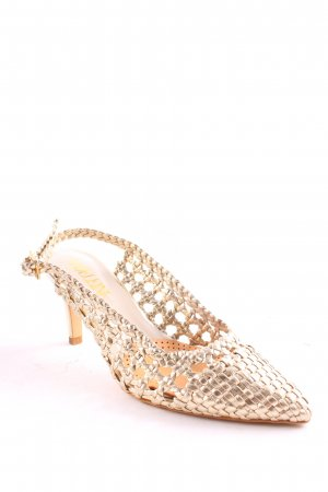 Madeleine Strapped High-Heeled Sandals gold-colored elegant