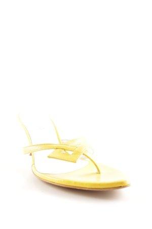 Madeleine Riemchenpumps gelb