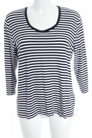 Madeleine T-shirt rayé noir-blanc motif rayé style classique