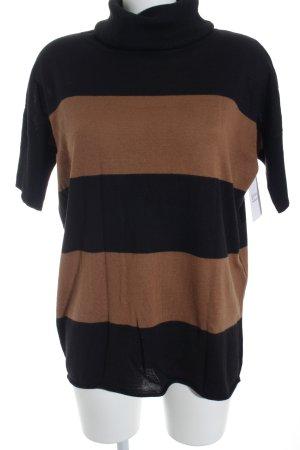 Madeleine Rollkragenpullover braun-schwarz schlichter Stil