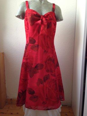 Madeleine rotes Sommerkleid Größe 38
