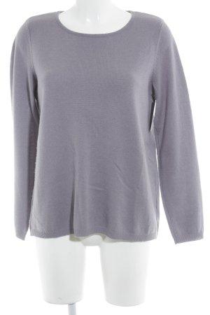 Madeleine Rundhalspullover grauviolett schlichter Stil