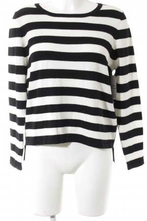 Madeleine Rundhalspullover schwarz-weiß Streifenmuster Casual-Look