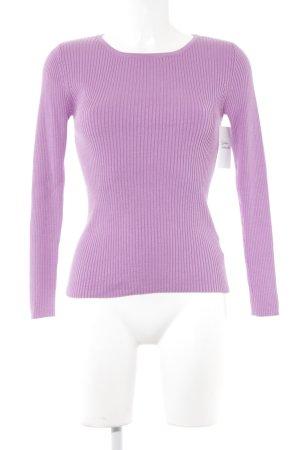 Madeleine Rundhalspullover violett Casual-Look