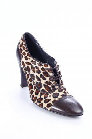 Madeleine Lace-up Pumps leopard pattern animal print