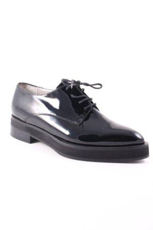 Madeleine Schnürschuhe schwarz extravaganter Stil