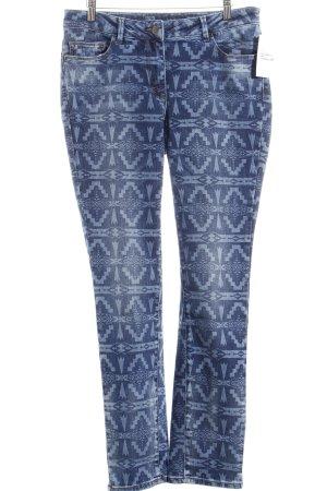 Madeleine Slim Jeans blau abstraktes Muster Casual-Look