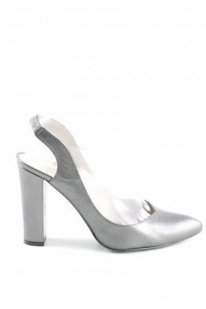 Madeleine Slingback-Pumps silberfarben Elegant