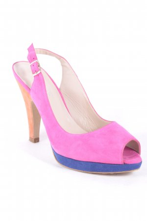 Madeleine Slingback-Pumps Colourblocking Party-Look