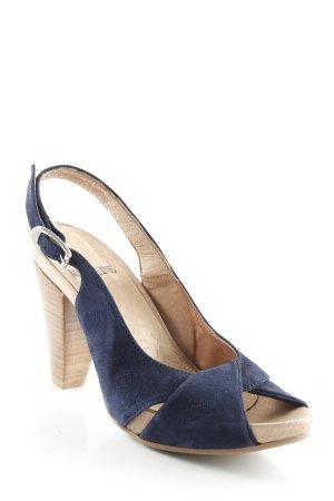 Madeleine Slingback-Pumps dunkelblau-beige schlichter Stil
