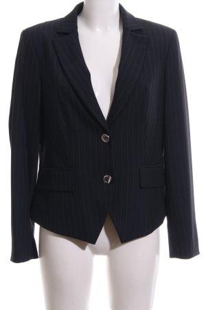 Madeleine Blazer de esmoquin negro estampado a rayas estilo «business»