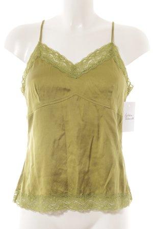 Madeleine Spaghettiträger Top olivgrün Romantik-Look