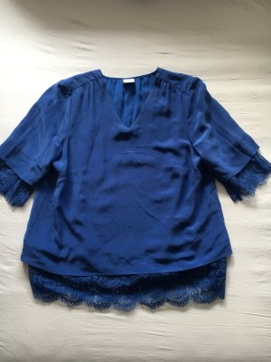 MADELEINE Spitzenbluse blau Obermaterial 100% Seide