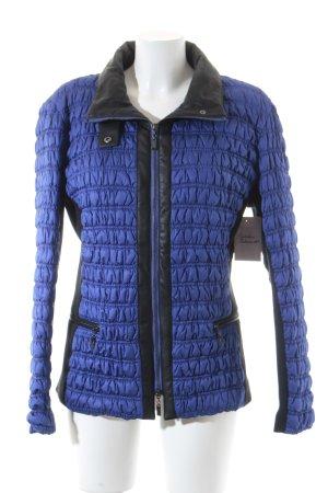 Madeleine Steppjacke blau-schwarz Casual-Look