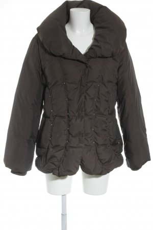 Madeleine Quilted Jacket dark brown simple style
