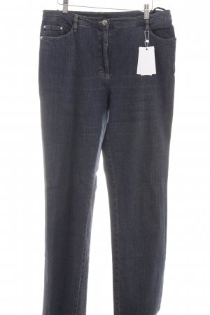 Madeleine Jeans a gamba dritta blu scuro stile casual