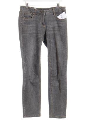 Madeleine Straight-Leg Jeans grau klassischer Stil