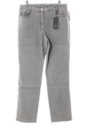 Madeleine Straight-Leg Jeans hellgrau Casual-Look