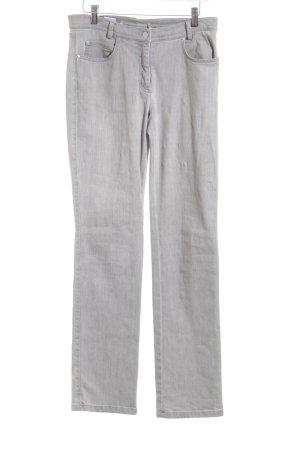 Madeleine Straight-Leg Jeans hellgrau klassischer Stil
