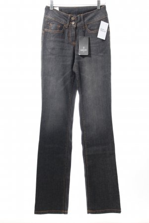 Madeleine Straight-Leg Jeans schwarz Washed-Optik