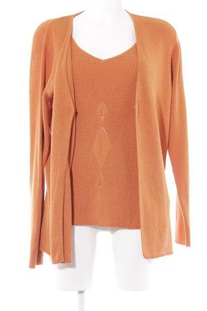 Madeleine Gebreide twin set oranje casual uitstraling