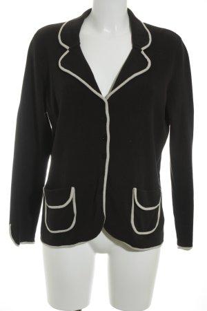 Madeleine Strickjacke schwarz-creme klassischer Stil