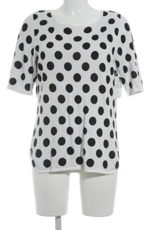 Madeleine Strickshirt weiß-schwarz Punktemuster Casual-Look