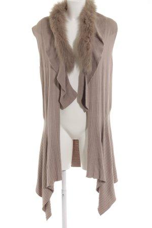 Madeleine Knitted Vest grey brown pinstripe casual look
