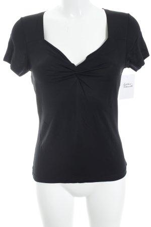 Madeleine T-Shirt schwarz schlichter Stil