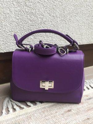 MADELEINE Tasche aus Leder in violett